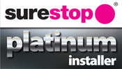 Platinum surestop installer logo